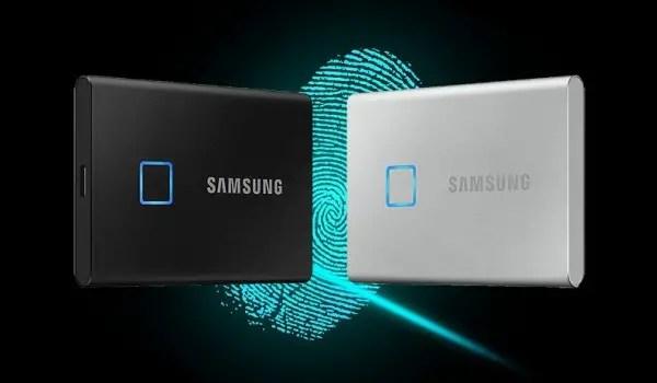 Samsung portable SSD with fingerprint scanner