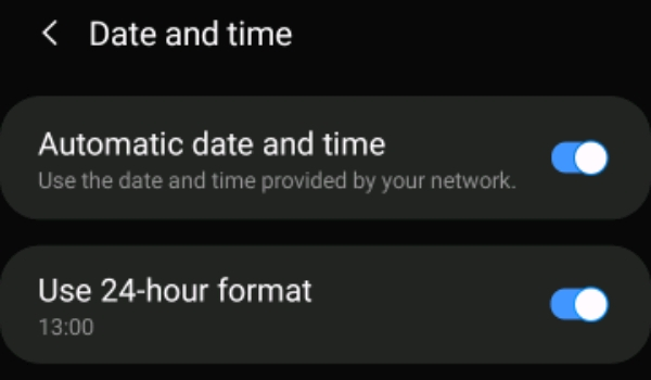 Change the Date and Time of your Device