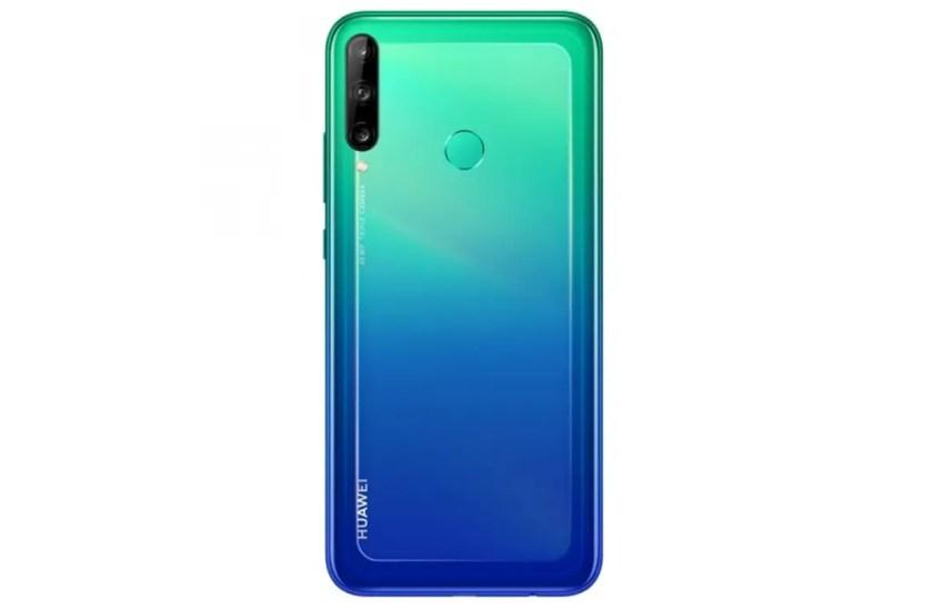 Huawei Y7p aurora blue rear side