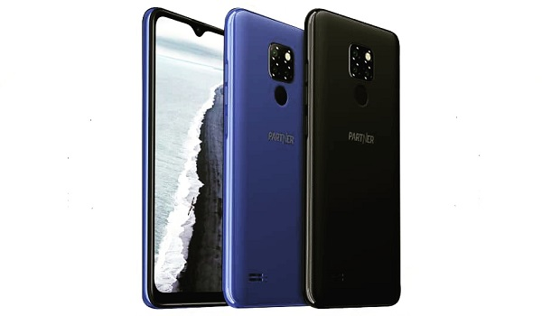 Partner Mobile EV1 front back blue black