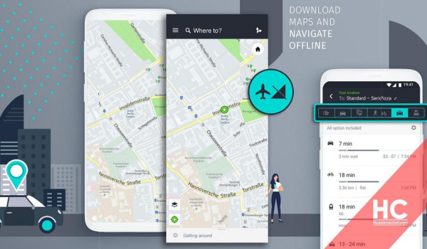 HERE WeGo Maps for Huawei phones in AppGallery