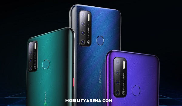 TECNO Pouvoir 4 Pro three colours and cameras