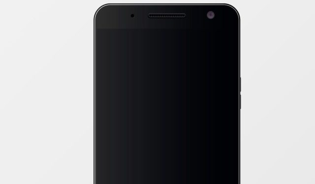 LCD screen on a smartphone