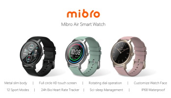 Mibro Air smart watch colours