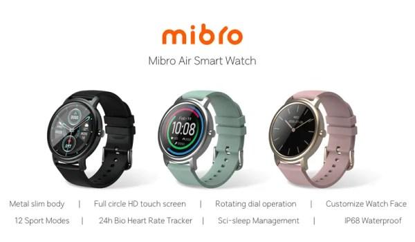 Mibro Air smart watch colours