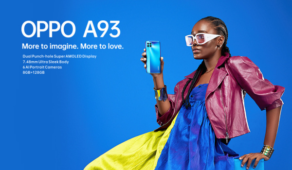 OPPO A93 smartphone in hand