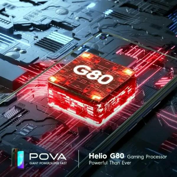 TECNO POVA Helio G80 chipset