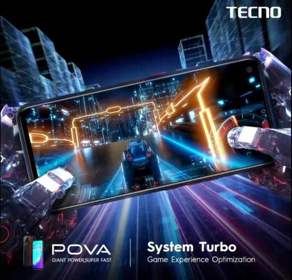 TECNO pova turbo system
