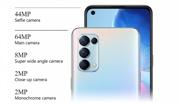 OPPO Reno5 4G cameras