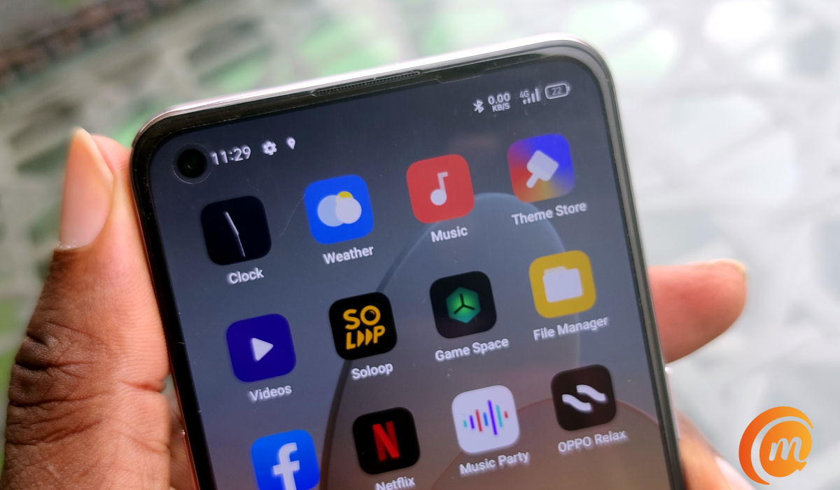 oppo Reno5 smartphone in hand