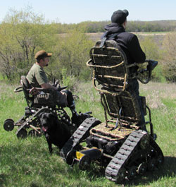 action track chair diy swing all terrain trackchair wheelchair new products and trackstand