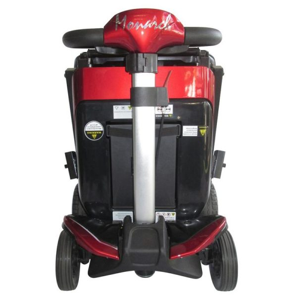 Smarti folding scooter red folded front