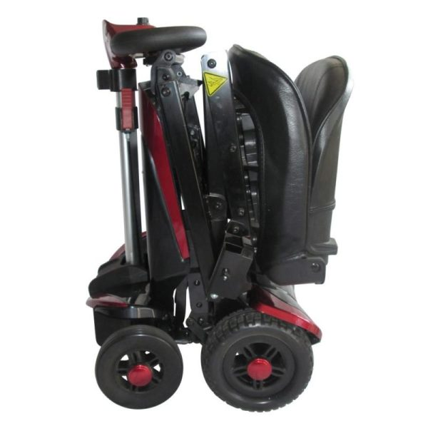 Smarti folding scooter red folded side