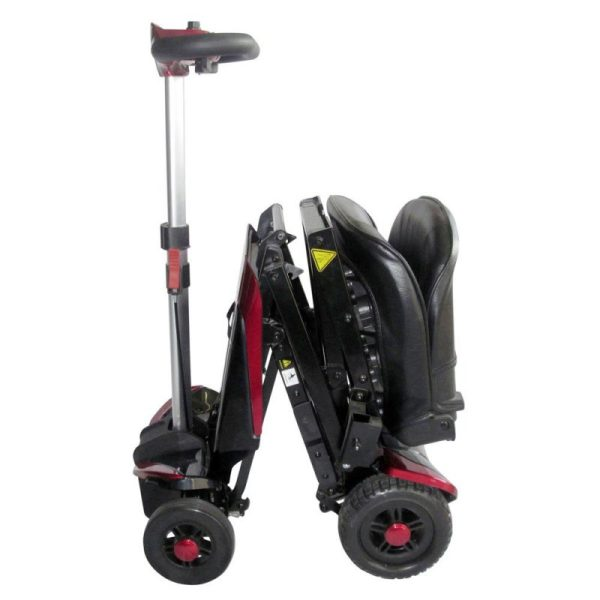 Smarti folding scooter red opening side