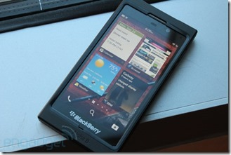 Blackberry 10 shows up on video