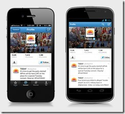 Twitter app updated on iOS and Android