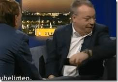 Nokia's CEO Stephen Elop keeps it gangstah
