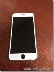 Amzer Kristal Edge2Edge Screen Protector on device