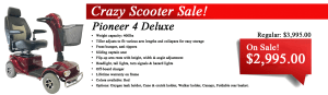 Pioneer 4 Scooter Sale Canada