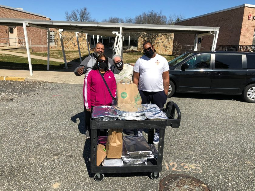 Meatout 2021: dropping off SuTao Café food at Coordinated Homeless Outreach Center in Norristown