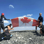 Mobilizers on their work/travel adventure in the Rocky Mountains, Alberta