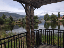 Stunning view of the rolling hills in Osoyoos, British Columbia.