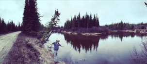Mobilizer enjoying the landscape in Gillam, Manitoba during his Canada summer job placement.