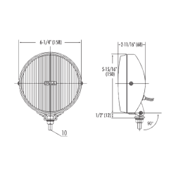 PIAA LP 530 (3.5″ Diameter) High Intensity LED Back Up