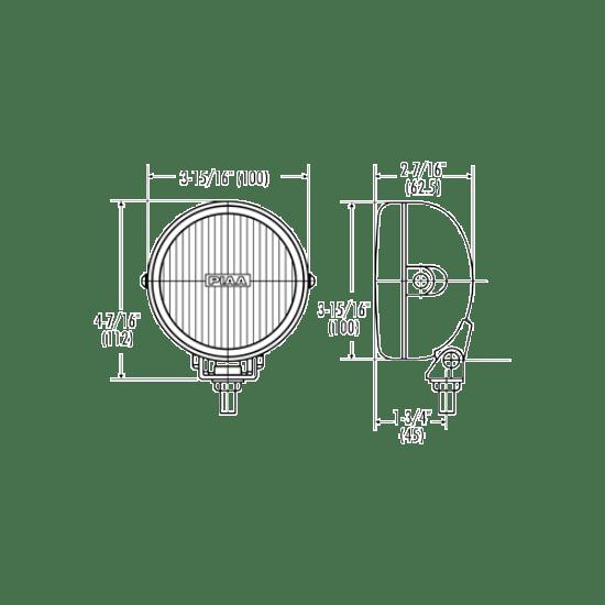 PIAA 510 Series (4″Diameter) Lamp Kit
