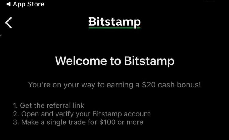 promocja bitstamp zarobek 20 dolarów