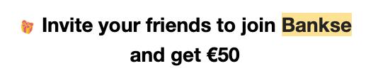 bankse 50 euro promo