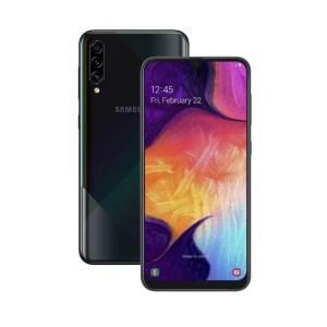 "Samsung Galaxy A50 (4GB/128GB, Black, 6.4"", Dual SIM, 25MP) GRATIS Skin silikon+tempered glass"