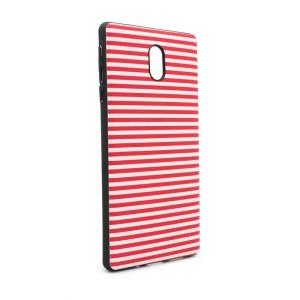Maska Luo Stripes za Nokia 3 crvena