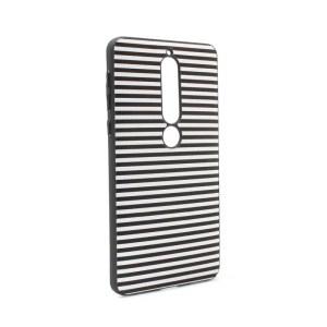 Maska Luo Stripes za Nokia 6.1 2018 crna