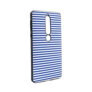 Maska Luo Stripes za Nokia 6.1 2018 plava