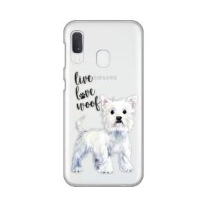 Maska Silikonska Print Skin za Samsung A202F Galaxy A20e Live Love Woof