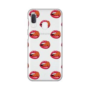 Maska Silikonska Print Skin za Samsung A202F Galaxy A20e Pink Lips Pattern