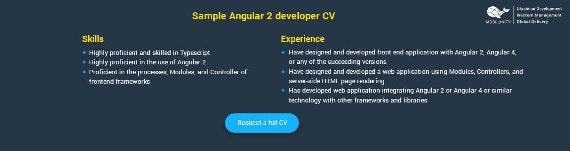angular 2 sample resume
