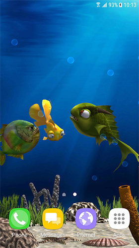 Wallpaper Aquarium 3d Apk Aquarium Fish 3d By Blackbird Wallpapers Para Android