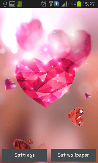 Descargar 3d Image Live Wallpaper Para Android Descargar Diamond Hearts By Live Wallpaper Hq Para Android