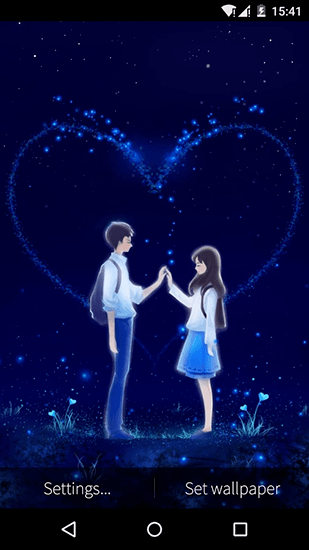 Cute Couples Cartoons Wallpapers Love And Heart Live Wallpaper For Android Love And Heart