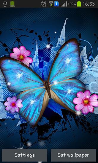Blingee Cute Wallpaper Shiny Butterfly Para Android Baixar Gr 225 Tis O Papel De