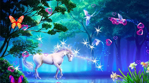 3d Fireflies Live Wallpaper Unicorn 3d Live Wallpaper For Android Unicorn 3d Free