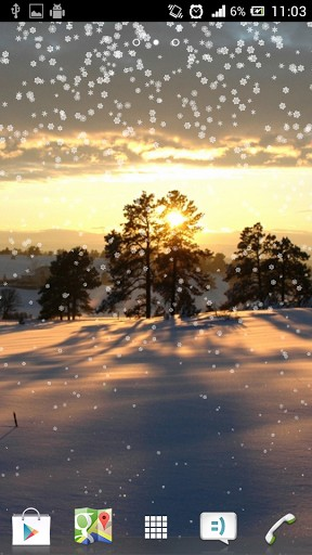 Real Snowflakes Falling Wallpaper Winter Live Wallpaper For Android Winter Free Download