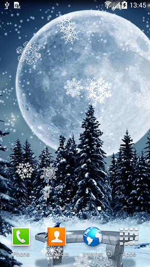 Real Snowflakes Falling Wallpaper Winter Night Live Wallpaper For Android Winter Night Free