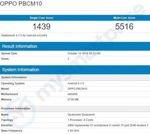 Oppo R15X leakS on TENAA