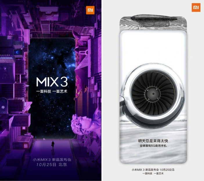 Xiaomi Mi Mix 3 launch invite