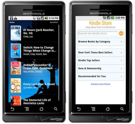 Amazon Kindle app for Android now available (eBooks