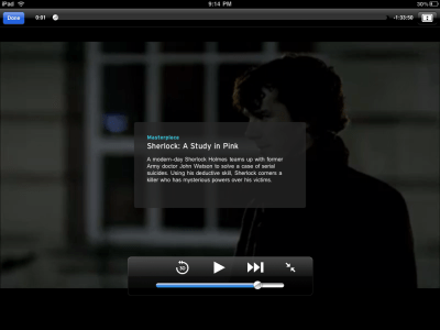 PBS for iPad's video player