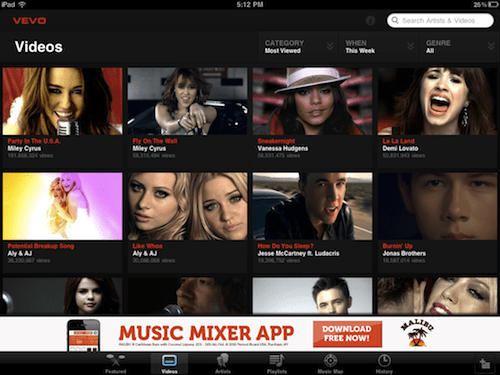 VEVO HD: Feast your eyes on free music videos and more